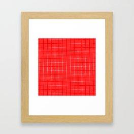 Aurora Red Pattern 1 Fall Winter 2016 Pantone Color Framed Art Print