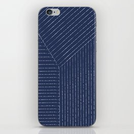 Lines / Navy iPhone Skin