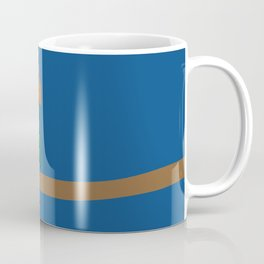 Owl On A Limb (Blue) Coffee Mug