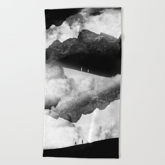 State of black and white isolation Beach Towel