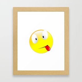 Silly Sick Smiley Framed Art Print