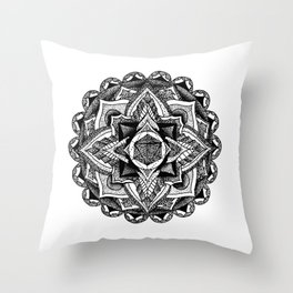 Mandala Circles Throw Pillow