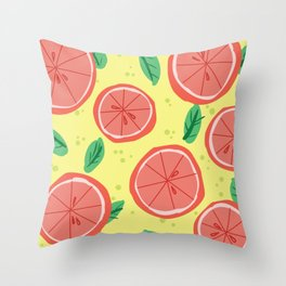 Grapefruit Summer Throw Pillow