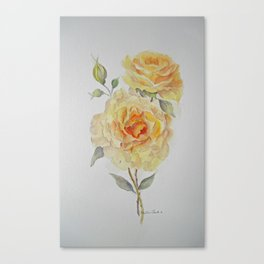 One rose or two Canvas Print