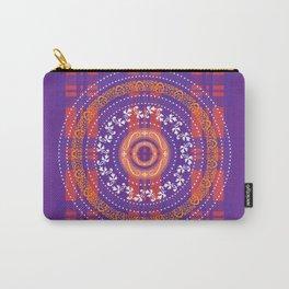 Mandala on OrangePurple Plaid Carry-All Pouch