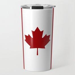 Canada: Canadian Flag (Red & White) Travel Mug