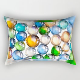 Plenty multicolored glass balls Rectangular Pillow
