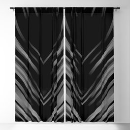 stripes wave pattern 3 bwii Blackout Curtain
