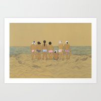 kozyndan Art Prints featuring Waiting For The Catch by kozyndan