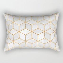 White Cubes Rectangular Pillow