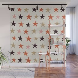 Star Pattern Color Wall Mural