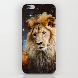 Lion and Galaxy iPhone Skin