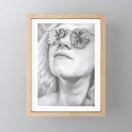 Palm trees EJT Framed Mini Art Print