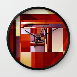 Abstract Red Spiral Wall Clock