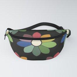 Flower pattern based on James Ward's Chromatic Circle (vintage wash) Fanny Pack