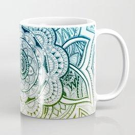 Mandala Blue Yellow Coffee Mug