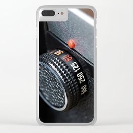 Control dial shutter speed on retro photo camera Clear iPhone Case