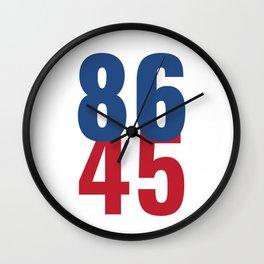86 45 Anti Trump Impeachment T-Shirt / Politics Gift For Democrats, Liberals, Leftists, Feminists Wall Clock