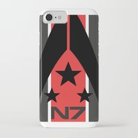 n7 iPhone & iPod Cases featuring N7 MASS EFFECT by MDRMDRMDR