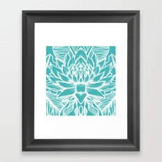 Blue Lotus Framed Art Print