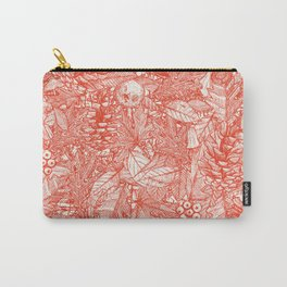 forest floor fire orange ivory Carry-All Pouch