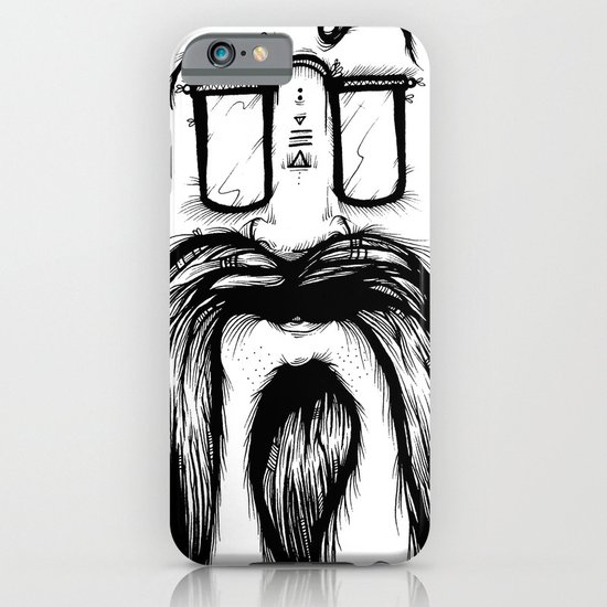 Blackie Beardy Face iPhone & iPod Case