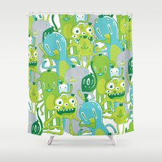 Done with Monster School! Shower Curtain