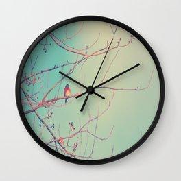 Bluebird Blue Wall Clock