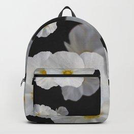White blossom flower in pattern Backpack