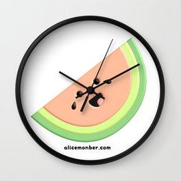 Cute Happy Watermelon Wall Clock