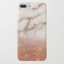 Shiny Copper Metal Foil Gold Ombre Bohemian Marble iPhone Case