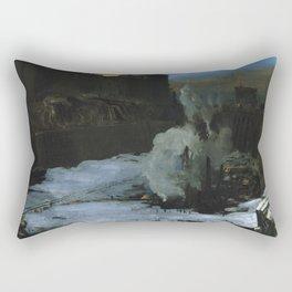 "George Wesley Bellows ""Pennsylvania Station Excavation"" Rectangular Pillow"