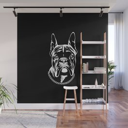 French Bulldog pet (black) Wall Mural