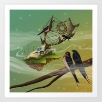 dreamcatcher Art Prints featuring DREAMCATCHER by ANVIK