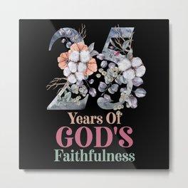25 Years Birthday Or Anniversary Gift Metal Print