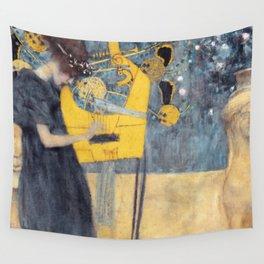 "Gustav Klimt ""Music (Die Musik)"" Wall Tapestry"