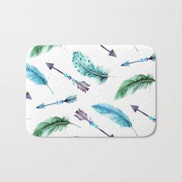 Autumn Hunt Arrows + Feathers Bath Mat