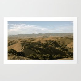 Central Coast Mountaintops Art Print
