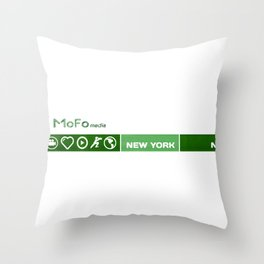 Mofo media Throw Pillow