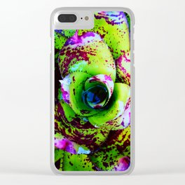 Rusted Succulent Clear iPhone Case