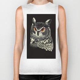 Bright-Eyed Owl Biker Tank