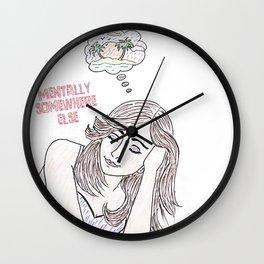 Mentally somewhere else! Wall Clock