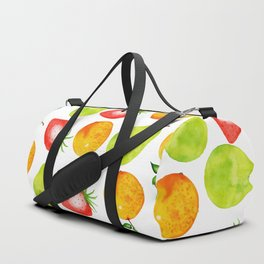 Watercolor Fruits Pattern Duffle Bag