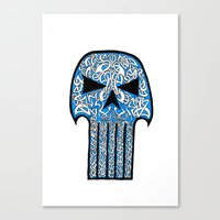 punisher Canvas Prints featuring Celtic Punisher by ronnie mcneil