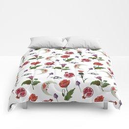 Poppy, Datura, thistle Comforters