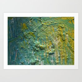 Water Scrape Art Print