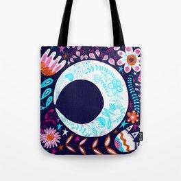 Folky Moon Tote Bag