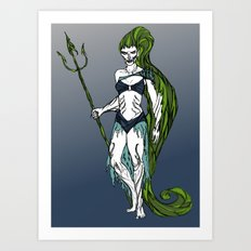 Water Warrior Art Print
