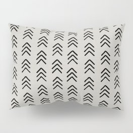 Black ink brushed arrow heads Pillow Sham