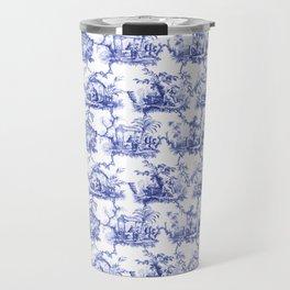 Blue Chinoiserie Toile Travel Mug